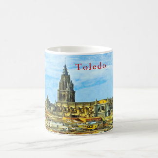 Panorama of the historical part of Toledo. Coffee Mug