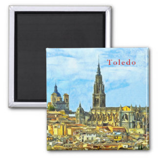 Panorama of the historical part of Toledo. Magnet