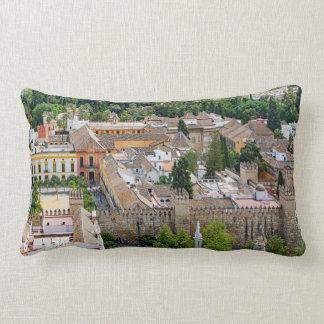 Panorama of the Seville Alcázar Lumbar Pillow