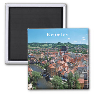 Panorama of the town of Cesky Krumlov. Magnet