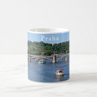 Panorama of the Vltava River in Prague Coffee Mug