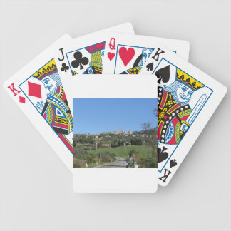 Panorama of Volterra village, province of Pisa Bicycle Playing Cards