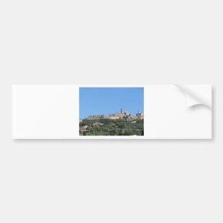 Panorama of Volterra village, province of Pisa Bumper Sticker