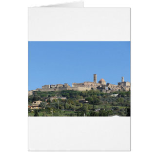 Panorama of Volterra village, province of Pisa Card