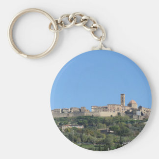 Panorama of Volterra village, province of Pisa Keychain
