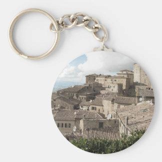 Panorama of Volterra village, province of Pisa Keychain
