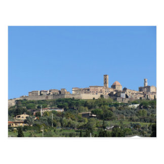 Panorama of Volterra village, province of Pisa Postcard