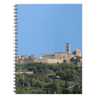Panorama of Volterra village, province of Pisa Spiral Notebook