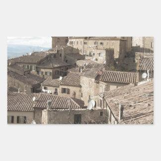 Panorama of Volterra village, province of Pisa Sticker