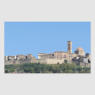 Panorama of Volterra village, province of Pisa Sticker
