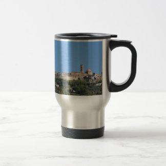 Panorama of Volterra village, province of Pisa Travel Mug