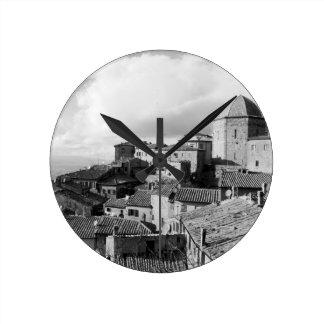 Panorama of Volterra village, province of Pisa Wall Clocks