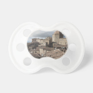 Panorama of Volterra village, Tuscany, Italy Baby Pacifier