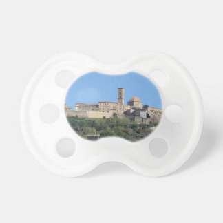 Panorama of Volterra village . Tuscany, Italy Baby Pacifiers