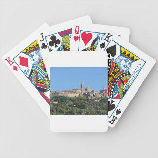 Panorama of Volterra village . Tuscany, Italy Bicycle Playing Cards