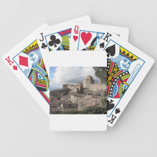 Panorama of Volterra village, Tuscany, Italy Bicycle Playing Cards