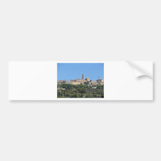 Panorama of Volterra village . Tuscany, Italy Bumper Sticker