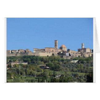 Panorama of Volterra village, Tuscany, Italy Card