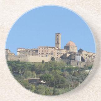 Panorama of Volterra village . Tuscany, Italy Coaster