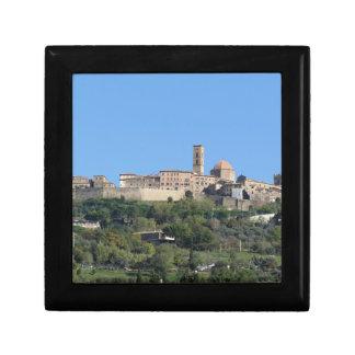 Panorama of Volterra village, Tuscany, Italy Gift Box