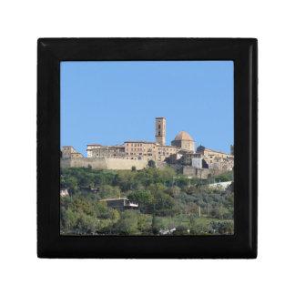 Panorama of Volterra village . Tuscany, Italy Gift Box