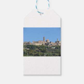 Panorama of Volterra village . Tuscany, Italy Gift Tags