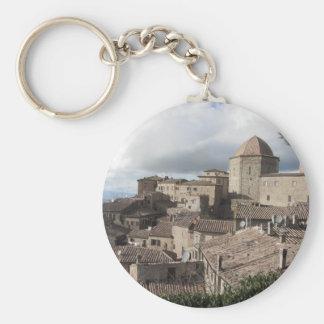 Panorama of Volterra village, Tuscany, Italy Keychain