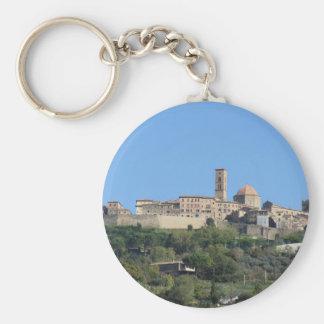 Panorama of Volterra village . Tuscany, Italy Keychain
