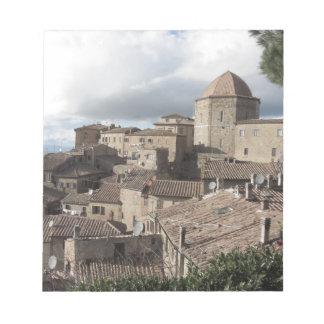 Panorama of Volterra village, Tuscany, Italy Notepad