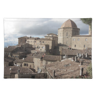 Panorama of Volterra village, Tuscany, Italy Placemat