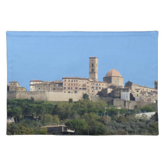 Panorama of Volterra village . Tuscany, Italy Placemat