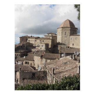 Panorama of Volterra village, Tuscany, Italy Postcard