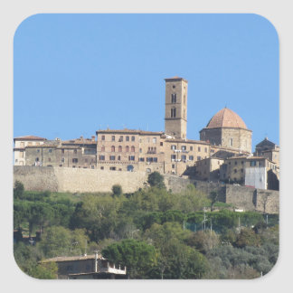 Panorama of Volterra village . Tuscany, Italy Square Sticker