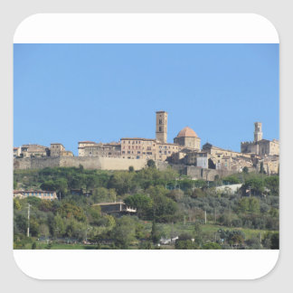 Panorama of Volterra village . Tuscany, Italy Square Sticker