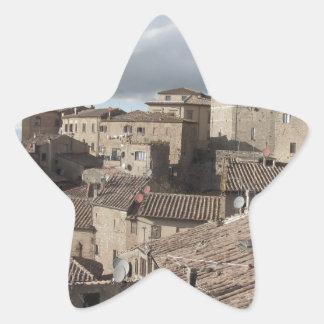 Panorama of Volterra village, Tuscany, Italy Star Sticker