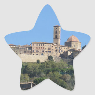 Panorama of Volterra village . Tuscany, Italy Star Sticker
