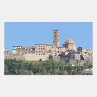 Panorama of Volterra village . Tuscany, Italy Sticker