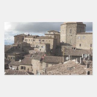Panorama of Volterra village, Tuscany, Italy Sticker
