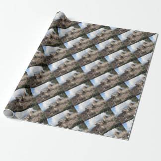 Panorama of Volterra village, Tuscany, Italy Wrapping Paper