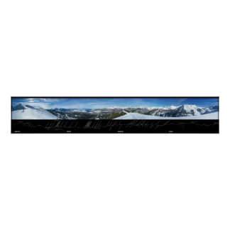 Panorama Telluride Mountain Range in Colorado Poster