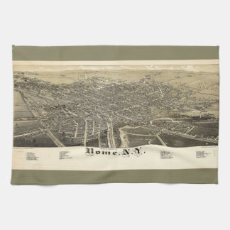Panorama View of Rome New York (1886) Kitchen Towel