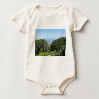 Panoramic aerial view of Livorno city Baby Bodysuit
