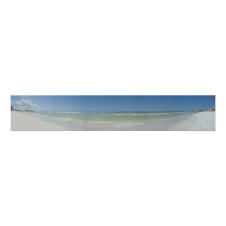 Panoramic Beach Photo Poster