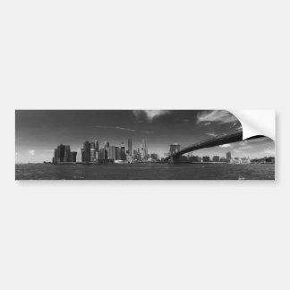 Panoramic Black White Brooklyn Bumper Sticker
