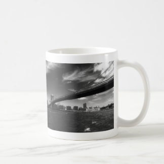 Panoramic Black White Brooklyn Coffee Mug
