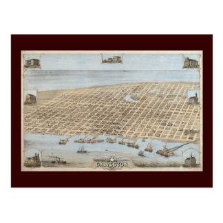 Panoramic Galveston Postcard