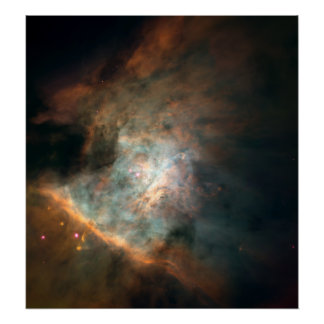 Panoramic Image of Center of the Orion Nebula Poster