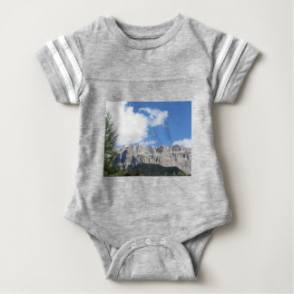 Panoramic mountain view of the Dolomites Baby Bodysuit
