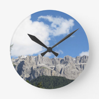 Panoramic mountain view of the Dolomites Round Clock