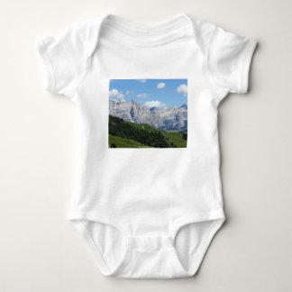 Panoramic mountain view of the italian Dolomites Baby Bodysuit
